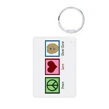 Peace Love Chow Keychains