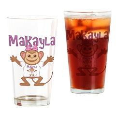 Little Monkey Makayla Drinking Glass