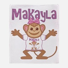 Little Monkey Makayla Throw Blanket
