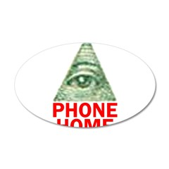 EYE PHONE HOME 22x14 Oval Wall Peel
