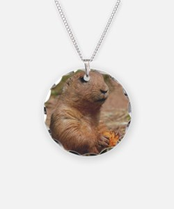 Prairie Dog Necklace Circle Charm