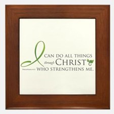 I can do all things through Christ Framed Tile