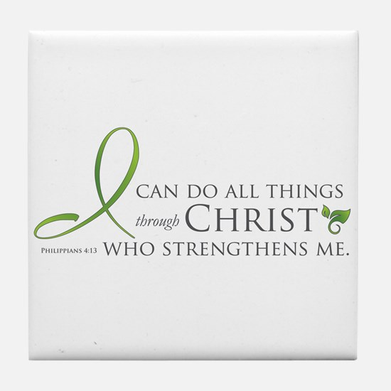 I can do all things through Christ Tile Coaster