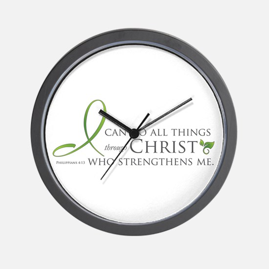 I can do all things through Christ Wall Clock
