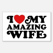 I Love My Amazing Wife Decal