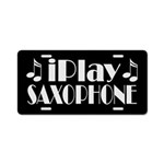 Saxophone Music License Plate Gift