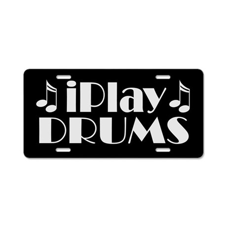 Drums Music License Plate Gift