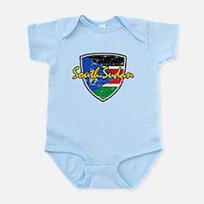 South Sudan Flag Shield Infant Bodysuit