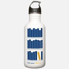 Love Your Library (blu Water Bottle