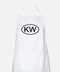 KW - Initial Oval BBQ Apron