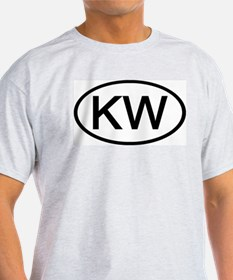 KW - Initial Oval Ash Grey T-Shirt