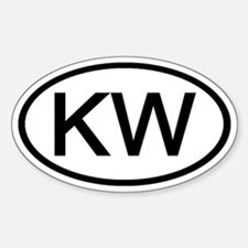 KW - Initial Oval Oval Decal