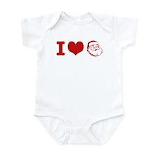 I Love Santa Infant Bodysuit