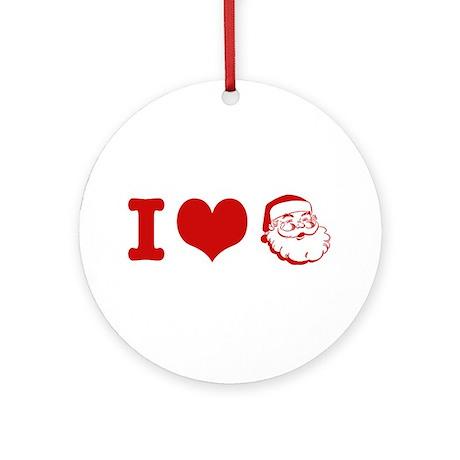 I Love Santa Ornament (Round)