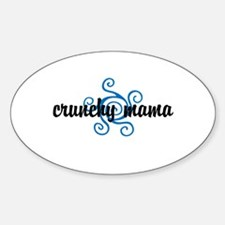 Crunchy mama Sticker (Oval)