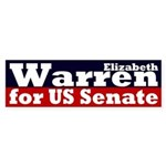 Elizabeth Warren for U.S. Senate bumper sticker