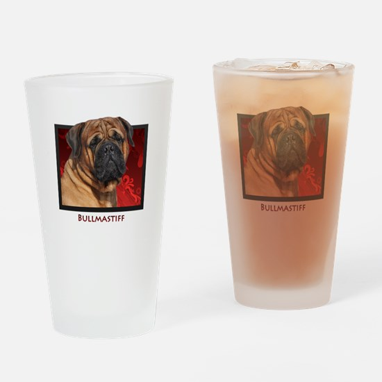 Bullmastiff Drinking Glass