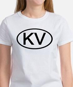 KV - Initial Oval Tee