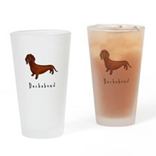 Dachshund Illustration Drinking Glass