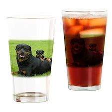 Rottweiler 9W025D-081 Drinking Glass