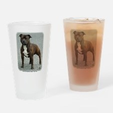 Staffordshire Bull Terrier 9F23-12 Drinking Glass