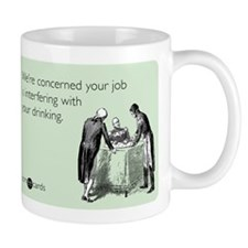 Job Interfering With Drinking Mug
