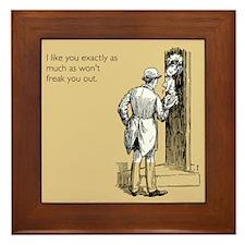I Like You Framed Tile