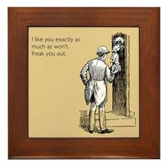 I Like You Framed Tile