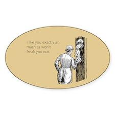I Like You Sticker (Oval)