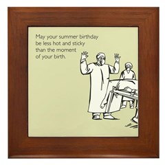 Hot & Sticky Birthday Framed Tile