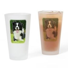 Border Collie 9A014D-14 Drinking Glass