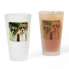Boxer puppies 9Y049D-064 Drinking Glass