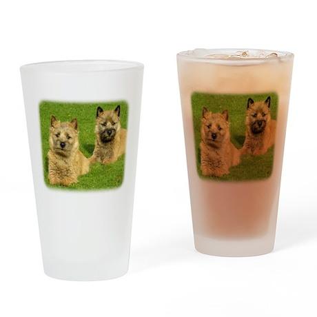 Cairn Terrier puppies 9W048D- Drinking Glass