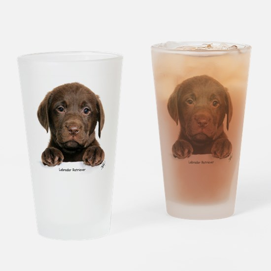 Chocolate Labrador Retriever Drinking Glass