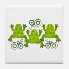 Funky Frogs Tile Coaster