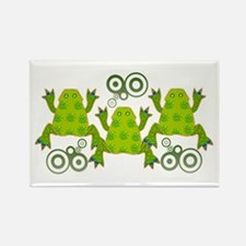 Funky Frogs Rectangle Magnet
