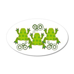 Funky Frogs 22x14 Oval Wall Peel