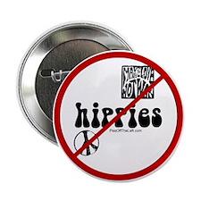 No Hippies Button