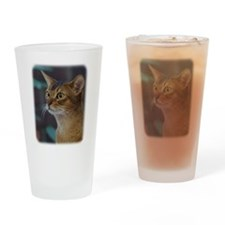 Abyssinian Cat AA025D-018 Drinking Glass