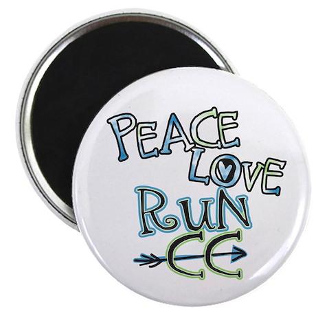 Peace Love Run CC Magnet