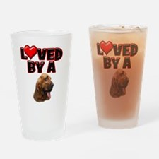 Loved by a Bloodhound Drinking Glass