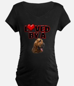 Loved by a Bloodhound T-Shirt