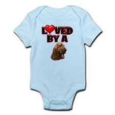 Loved by a Bloodhound Infant Bodysuit
