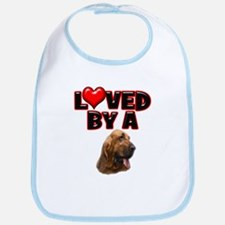 Loved by a Bloodhound Bib