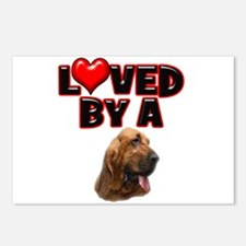 Loved by a Bloodhound Postcards (Package of 8)