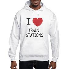 I heart train stations Hoodie