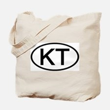 KT - Initial Oval Tote Bag