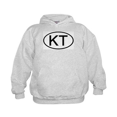 KT - Initial Oval Kids Hoodie