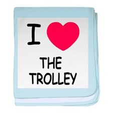 I heart the trolley baby blanket