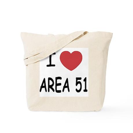 I heart area 51 Tote Bag